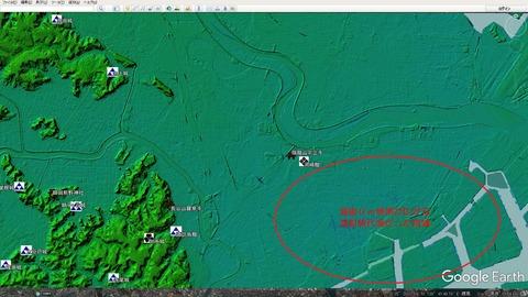 川崎市川崎区周辺の海抜0m地帯 久良岐のよし