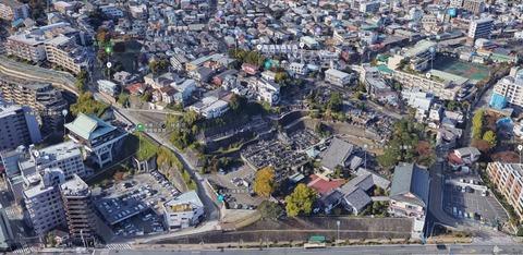 青木城主要部(Google map)