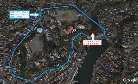 三崎城推定範囲