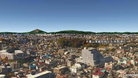 泉蔵院(熊野神社)の地形 久良岐のよし