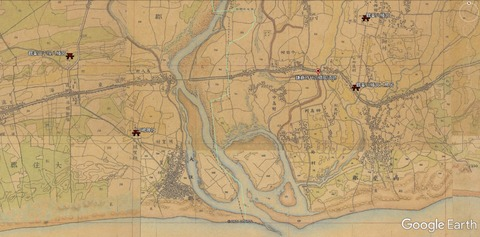平塚市相模川河口(迅速測図)久良岐のよし