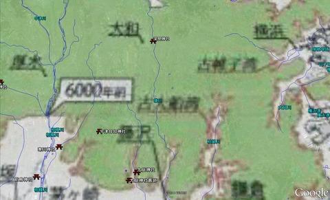 延喜式内社と河川の位置