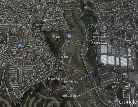 大庭城址周辺図