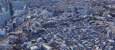青木城址遠景(Google map)