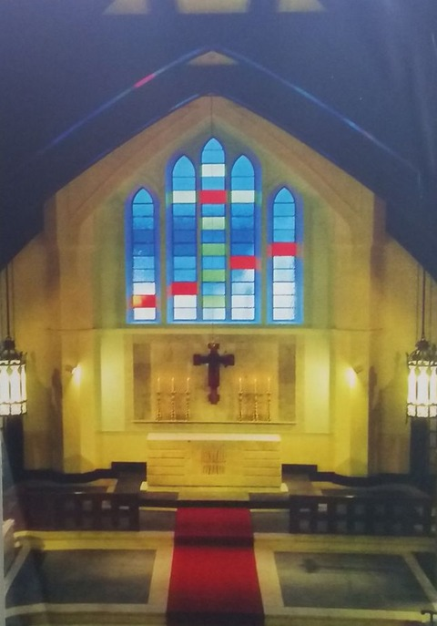 山手の教会の内装展示資料