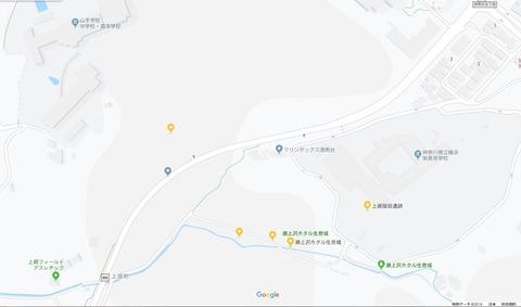 GoogleMap瀬上沢地図登録抹消現状