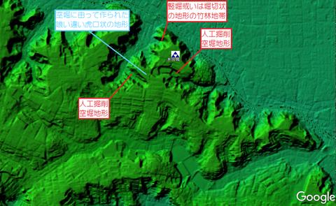 井田城址地形図推定縄張り 久良岐のよし
