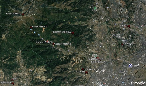 伊勢原市周辺聖地史跡MAP 久良岐のよし