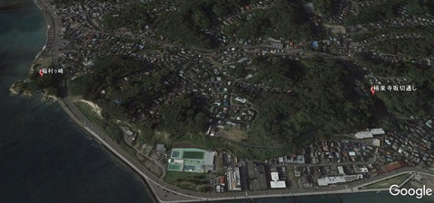 稲村ヶ崎と極楽寺坂切通しの位置関係 久良岐のよし