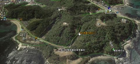 観音崎灯台直通の道