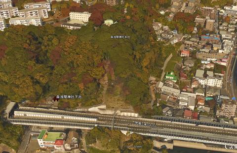森浅間神社地形