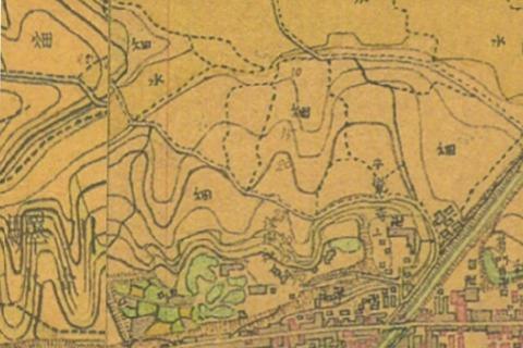 青木城主要部分明治期 迅速測図 久良岐のよし