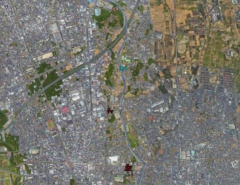 諏訪神社ー深見神社ー瀬谷本郷位置関係 久良岐のよし