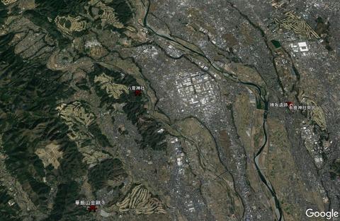 八菅神社周辺地形 久良岐のよし