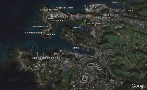 正しい小桜姫神社の神社の位置新井城址周辺の位置関係