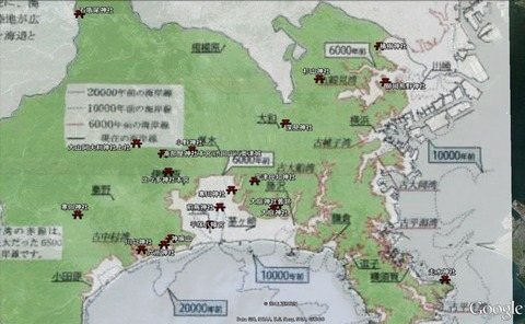 神奈川県名の延喜式内社と古代の海岸線