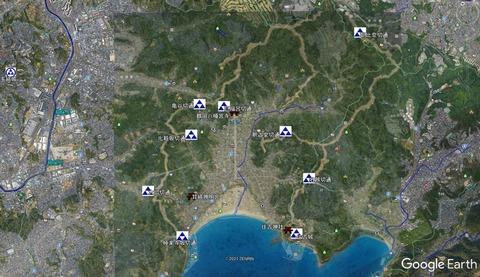 鎌倉城塞網 国立歴史民俗博物館を参考 久良岐のよし