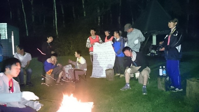 北海道 キャンプファイヤー(2)
