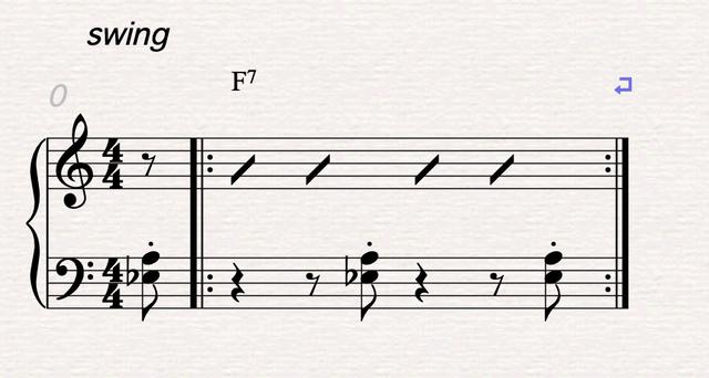左右コンビ譜例1