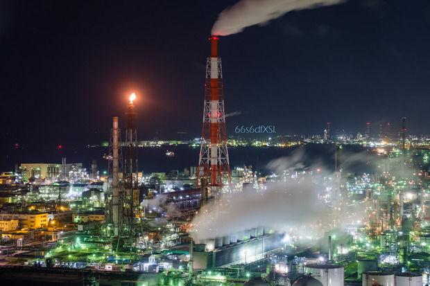 工場夜景の写真っていいよね