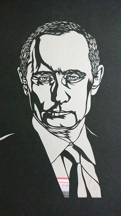 【画像あり】プーチン大統領の切り絵作りました