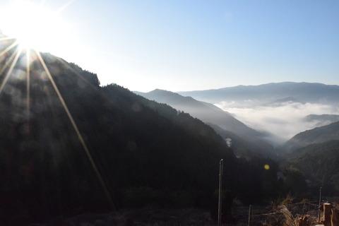 合宿風景朝日