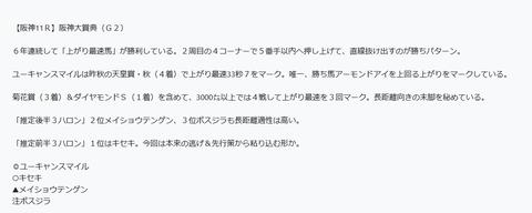 阪神大賞典の予想