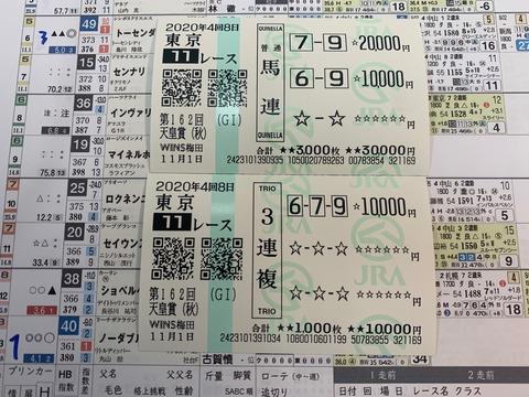 天皇賞(秋)の馬券