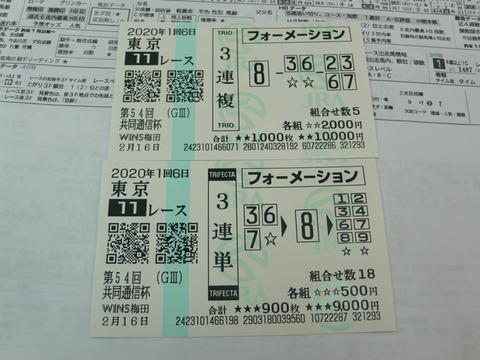 【馬券】1回東京6日11