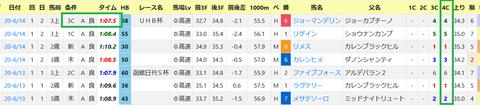 函館の芝の馬場傾向