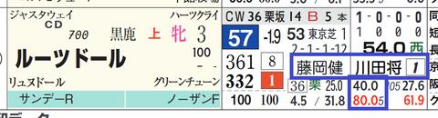 ルーツドール(川田騎手×藤岡健厩舎)