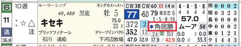 キセキ(角居厩舎の2頭出し)