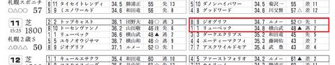 「推定3ハロン」札幌2歳S