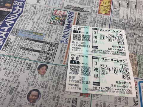 京都2歳Sの馬券