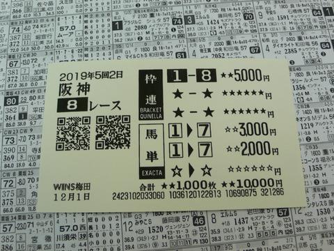 【馬券】5回阪神2日8