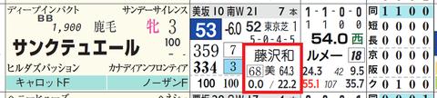 サンクテュエール(藤沢和雄厩舎×京都コース)