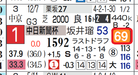 サトノガーネット(中日新聞杯)