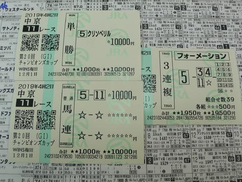【馬券】4回中京2日11