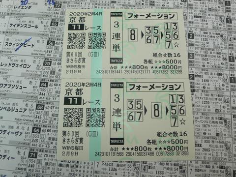 【馬券】2回京都4日11