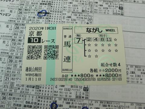 【馬券】1回京都3日10