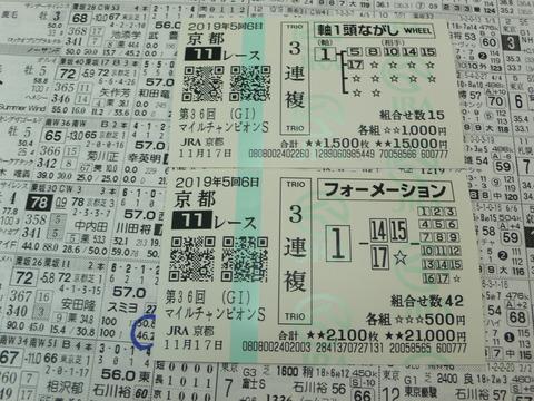 【馬券】5回京都6日11