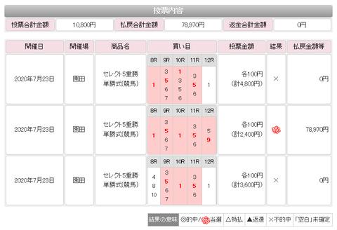 WIN5的中(0723園田)