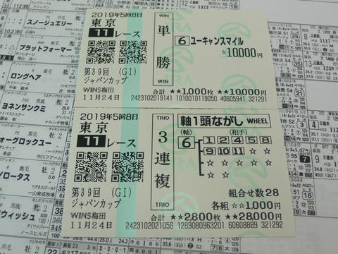 【馬券】5回東京8日11