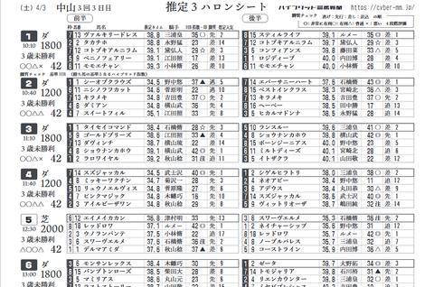 リニューアル版(レース別)