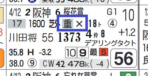 リアアメリア(桜花賞)