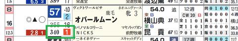 オパールムーン(「推定後半3ハロン」1位)