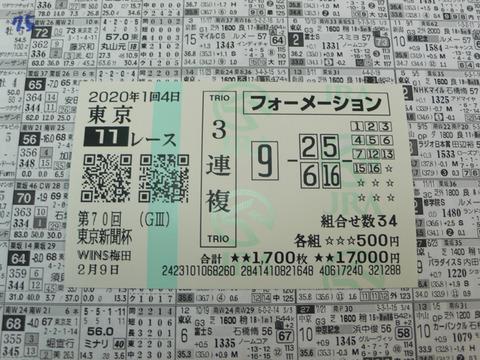 【馬券】1回東京4日11