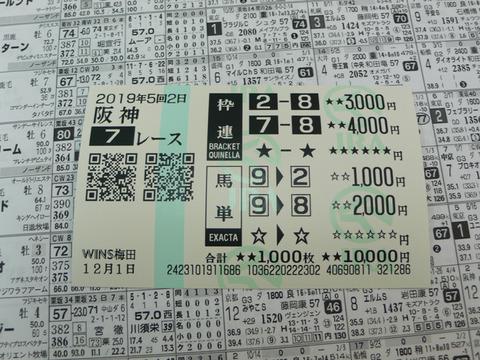 【馬券】5回阪神2日7