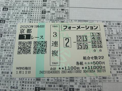 【馬券】1回京都4日1