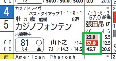 カジノフォンテン(「騎手×厩舎成績」)